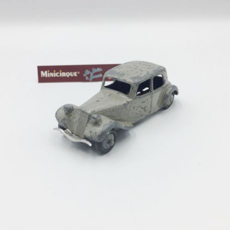 DINKY TOYS - Citroën Traction 11 BL grise male plate - 24N