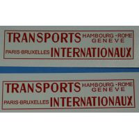 "127 - Décalcomanie pour UNIC Lautaret ""Transports Internationaux"""